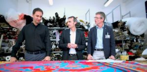 Michele Mazzanti, CAD Manager Roberto Cavalli, Paolo Ottolia, Product Manager RTW Roberto Cavalli, Antonio Sgroi, Country Manager Optitex Italy