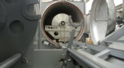 Detail of autoclave with its door of automatic opening (realized in diameters also higher than two meters, for volumes that can reach up to 13thousands litres)